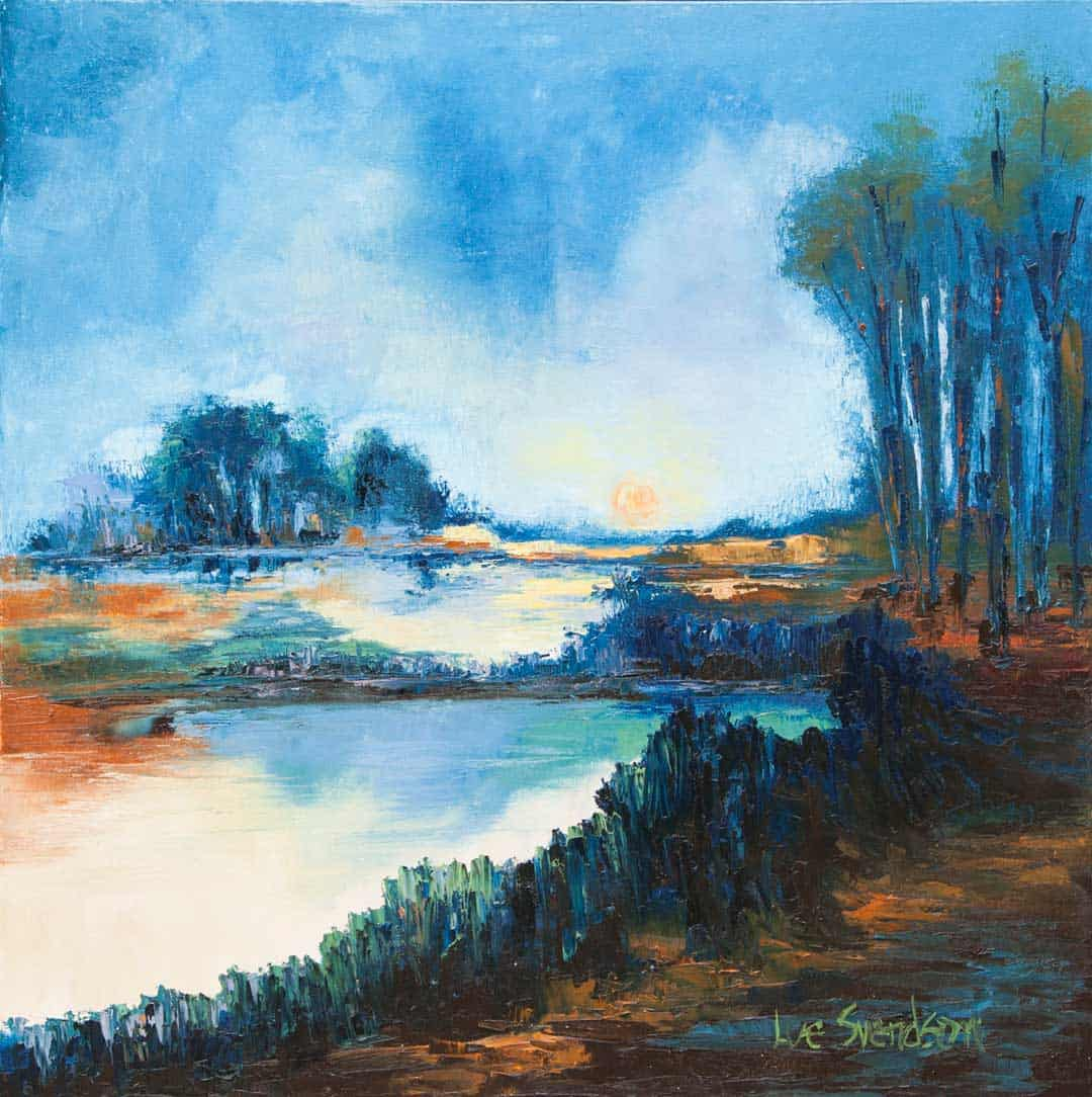 Abstract Blue Landscape